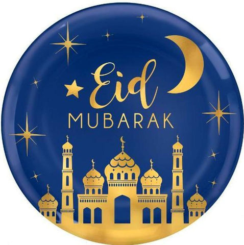 Eid Celebration Hot Stamped Round Platter - Tableware - Amscan