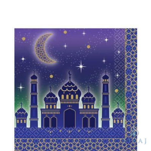 Eid Celebration Lunch Napkins 16ct - Tableware - Amscan