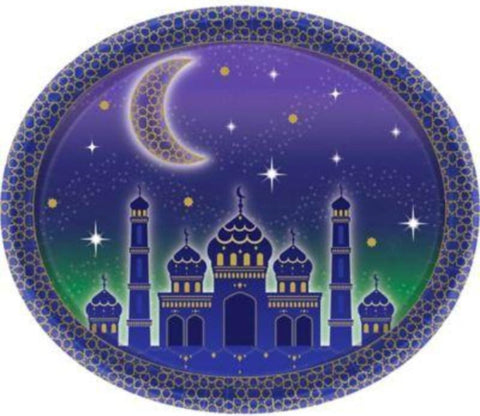 Eid Celebration Oval Plates 8ct - Tableware - Amscan