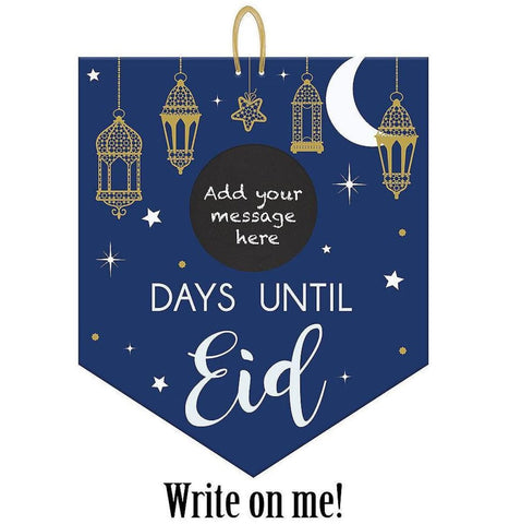 Eid Countdown Chalkboard Sign - Decor - Amscan