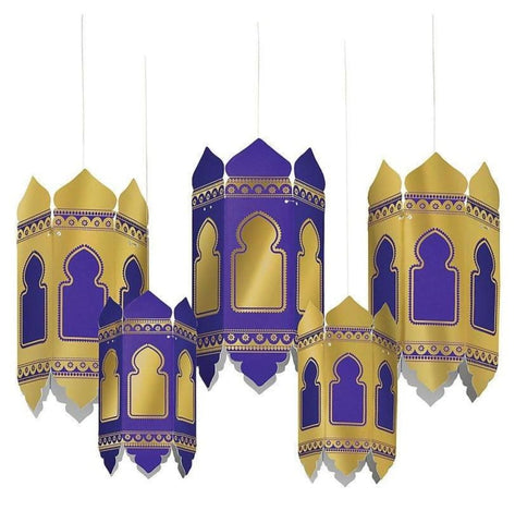 Eid Hot-Stamped Paper Lanterns 5 Count - Party Decor - Amscan