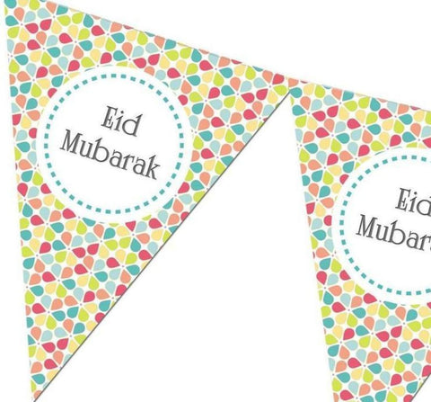 Eid Mubarak Bunting Kit - Flowers - Decorations - Islamic Moments