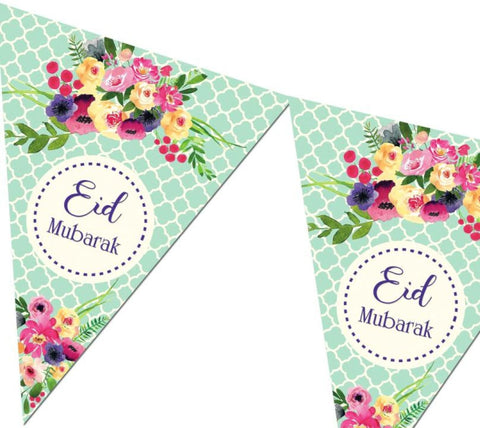 Eid Mubarak Bunting Kit - Green - Decorations - Islamic Moments