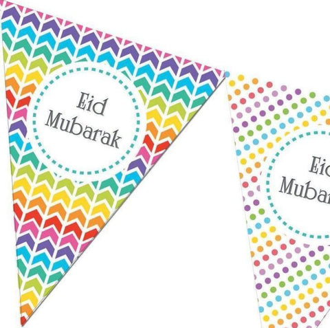 Eid Mubarak Bunting Kit - Rainbow - Decorations - Islamic Moments