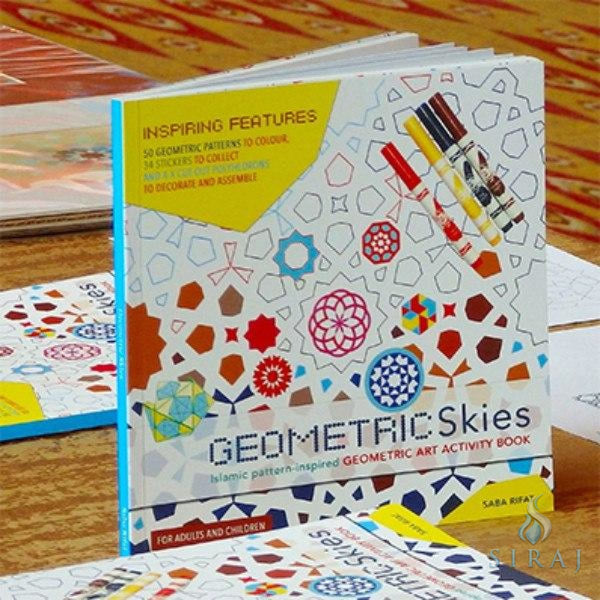 Geometric Skies Art Activity Book - Childrens Books - Saba Rifat