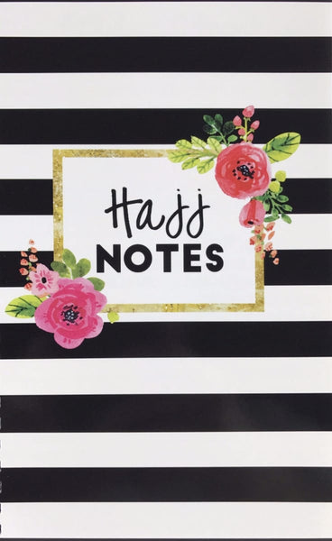Hajj Flowers & Stripes Notebook - Notebooks - The Pampered Muslimah