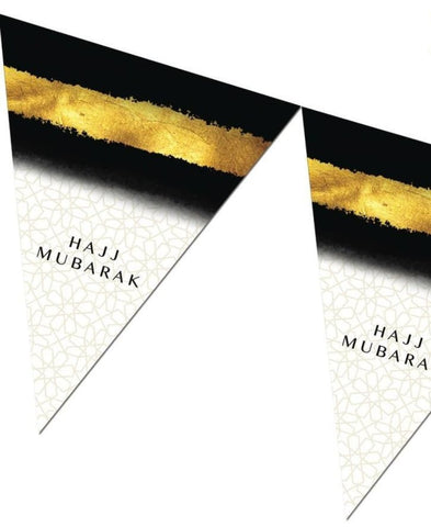 Hajj Mubarak Bunting Kit - Black and Gold - Decorations - Islamic Moments