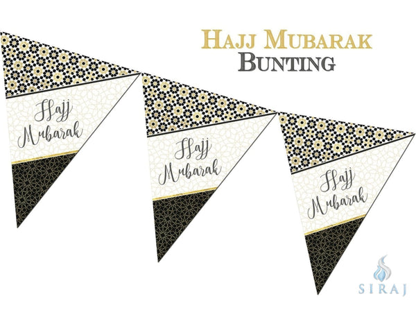 Hajj Mubarak Bunting Kit - Zellige - Decorations - Islamic Moments