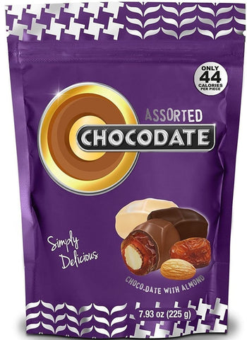 Halal Chocolate Dates - Assorted 225g - Dates - Chocodate