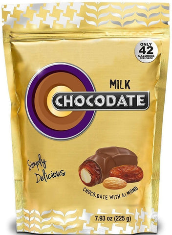 Halal Chocolate Dates - Milk Chocolate 225g - Dates - Chocodate