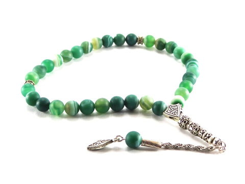 Jade Agate Tesbih - Prayer Beads - Siraj