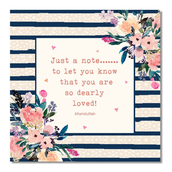 Just A Note Card - Greeting Cards - Islamic Moments