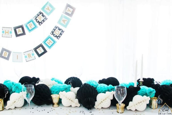 Lantern Honeycomb Turquoise 10 - Decorations - Eid Creations
