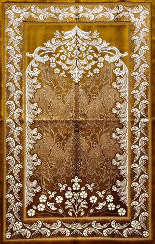 Luxury Plush Prayer Rug - Arabesque - Hazel - Prayer Rugs - Siraj