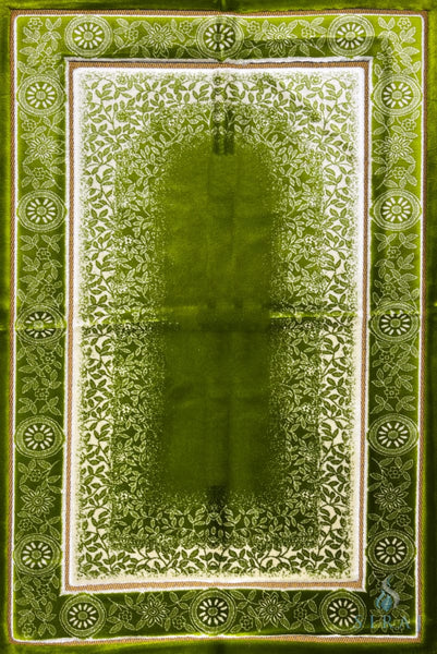 Luxury Plush Prayer Rug - Celestial - Green - Prayer Rugs - Siraj