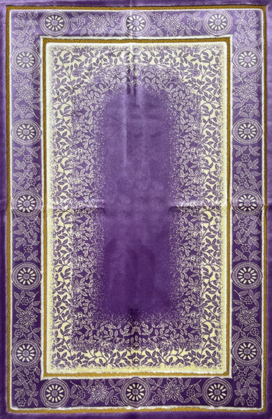 Luxury Plush Prayer Rug - Celestial - Purple - Prayer Rugs - Siraj