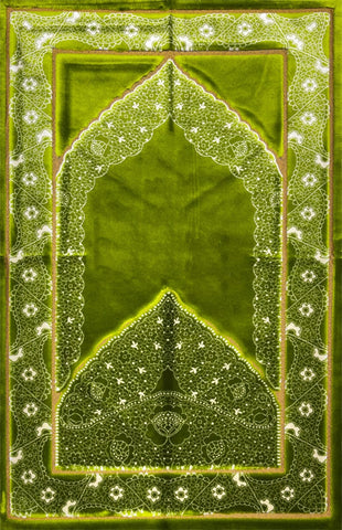 Luxury Plush Prayer Rug - Mystic - Green - Prayer Rugs - Siraj