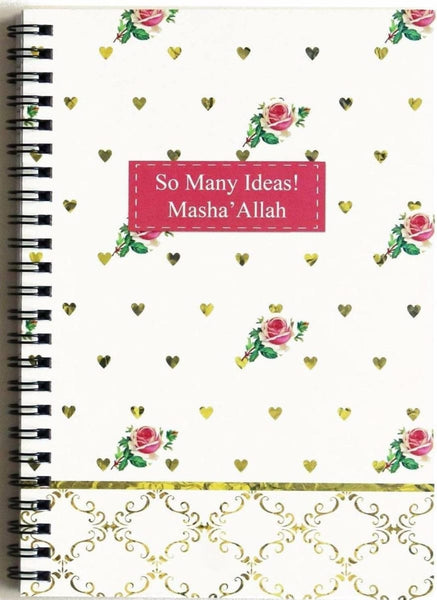 Mashallah Roses Notebook - Notebooks - Islamic Moments