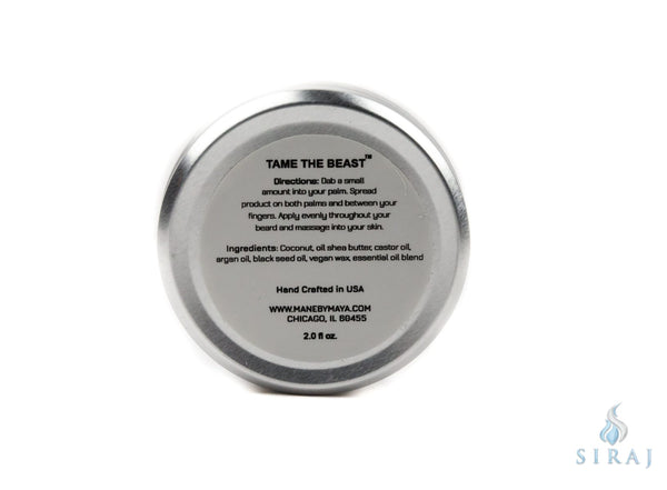 Mens Organic Beard Balm: Bay Leaf (2 OZ) - Beard Balm - Maya Cosmetics