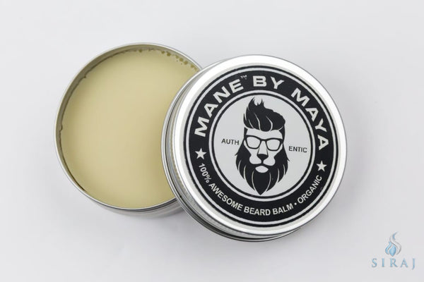 Mens Organic Beard Balm: Unscented (2 OZ) - Beard Balm - Maya Cosmetics