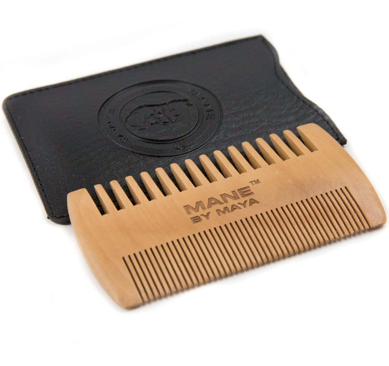 Mens Wooden Beard Comb - Mens Personal Care - Maya Cosmetics