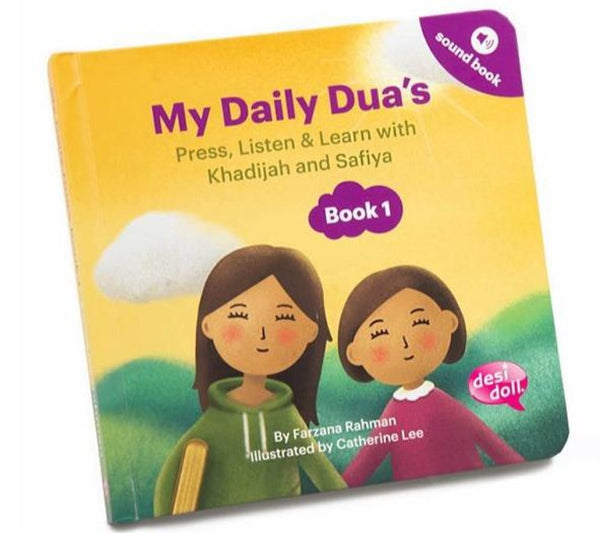 My Daily Dua's Story Sound Book 1 - Children's Books - Desi Doll
