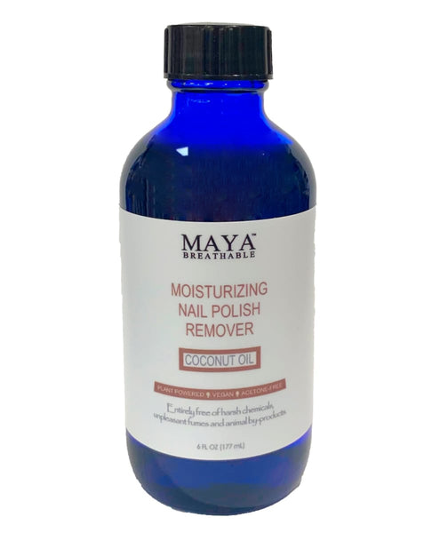 Natural Nail Polish Remover - Coconut Oil (6 FL OZ) - Nail Polish Remover - Maya Cosmetics