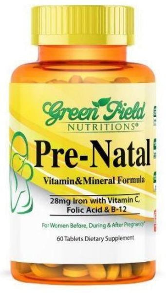Prenatal Multivitamin and Mineral Tablets - Halal Vitamins - Greenfield Nutritions
