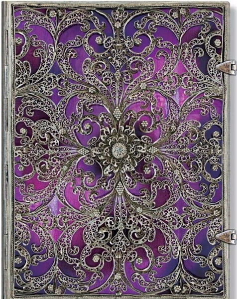 Silver Filigree Journal - Aubergine Ultra - Journal - Siraj