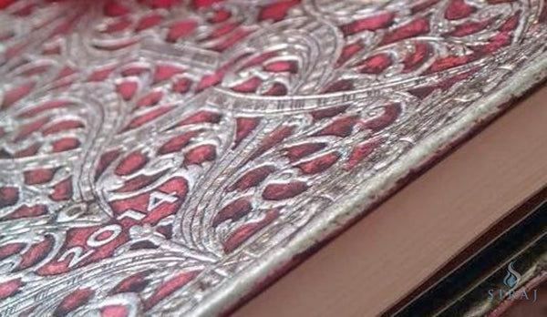 Silver Filigree Journal - Blush Pink Midi - Journal - Siraj