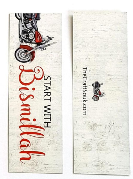 Start With Bismillah Bike Bookmark - Bookmarks - The Craft Souk
