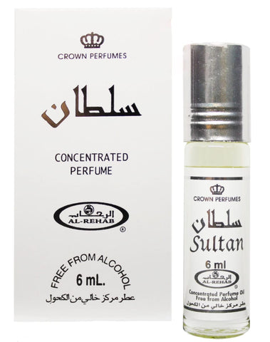 Sultan 6 ml Perfume - Halal Fragrances - Al-Rehab Perfumes