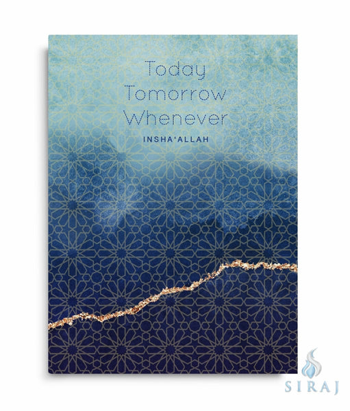 Today Tomorrow Whenever InshaAllah Notebook - Notebooks - Islamic Moments