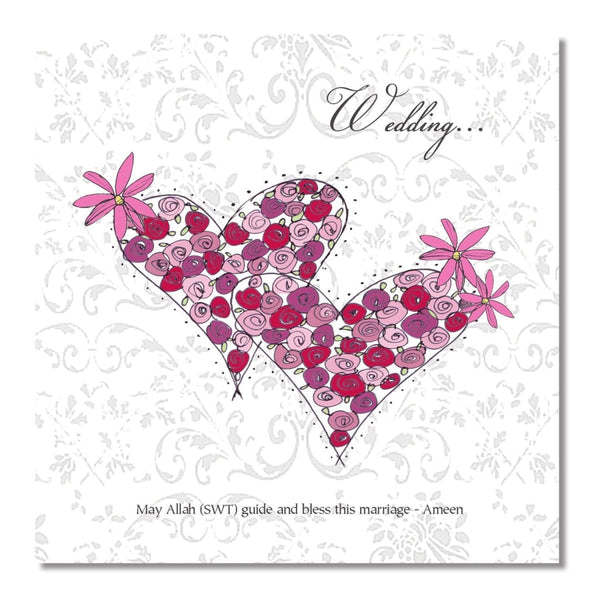 Wedding Hearts - Greeting Cards - Islamic Moments