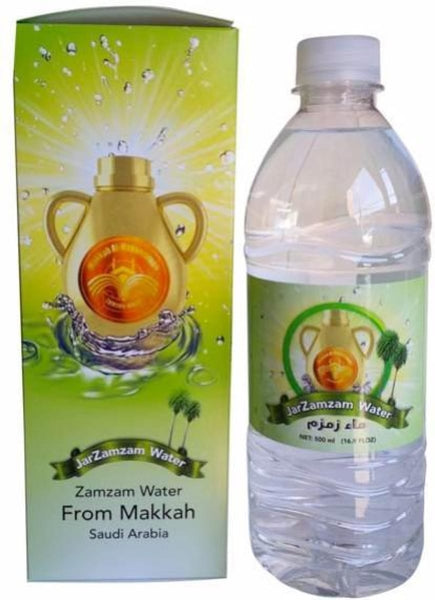Zam Zam Water 500ml Bottle - Water - Zam Zam From Mecca (Makkah) Saudia Arabia