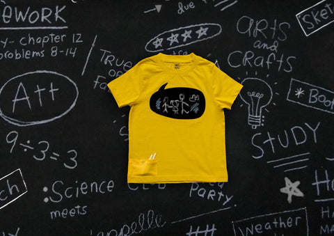 Write on Me! Chalkboard T-Shirts - Speech Bubble {Sunshine Yellow}