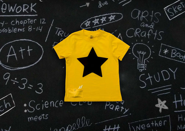 Write on Me! Chalkboard T-shirts - Star {Sunshine Yellow}