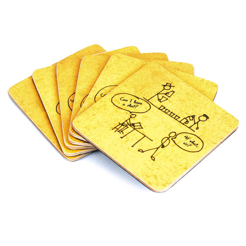 Dumb Bartender Coasters - Set of 6