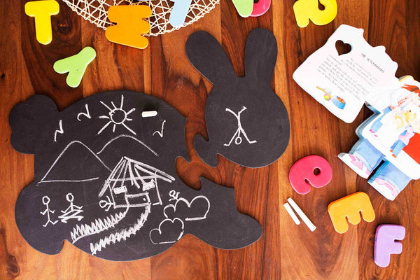 Honey Bunny - Chalkboard Puzzle Mat