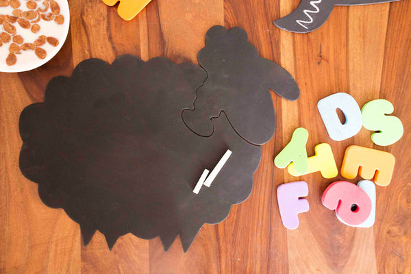 Mrs. Sheep - Chalkboard Puzzle Mat