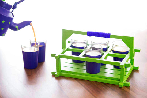 The Chaiwalla Tea Set - Royal Blue & Green