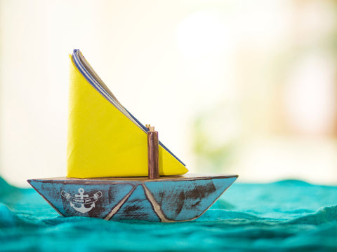 Paperboat Napkin and Toothpick Holder