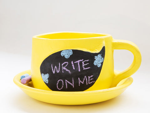 Write on Me Planters - Speech Bubble