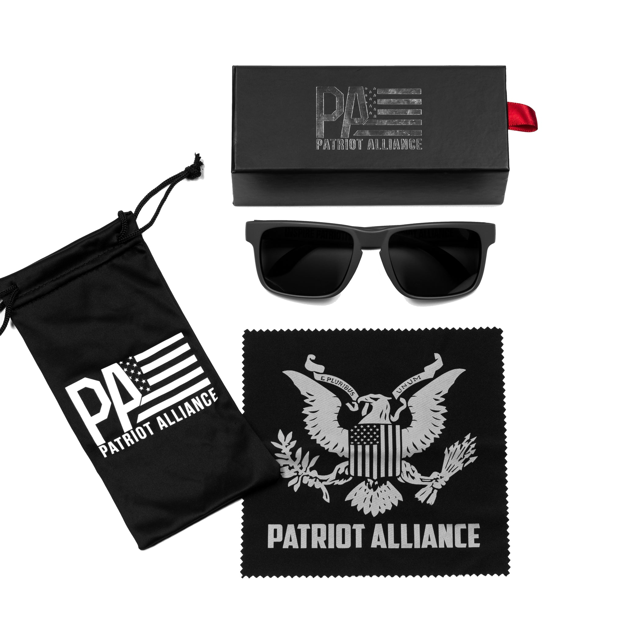 PA Logo Sunglasses, Matte Military Green