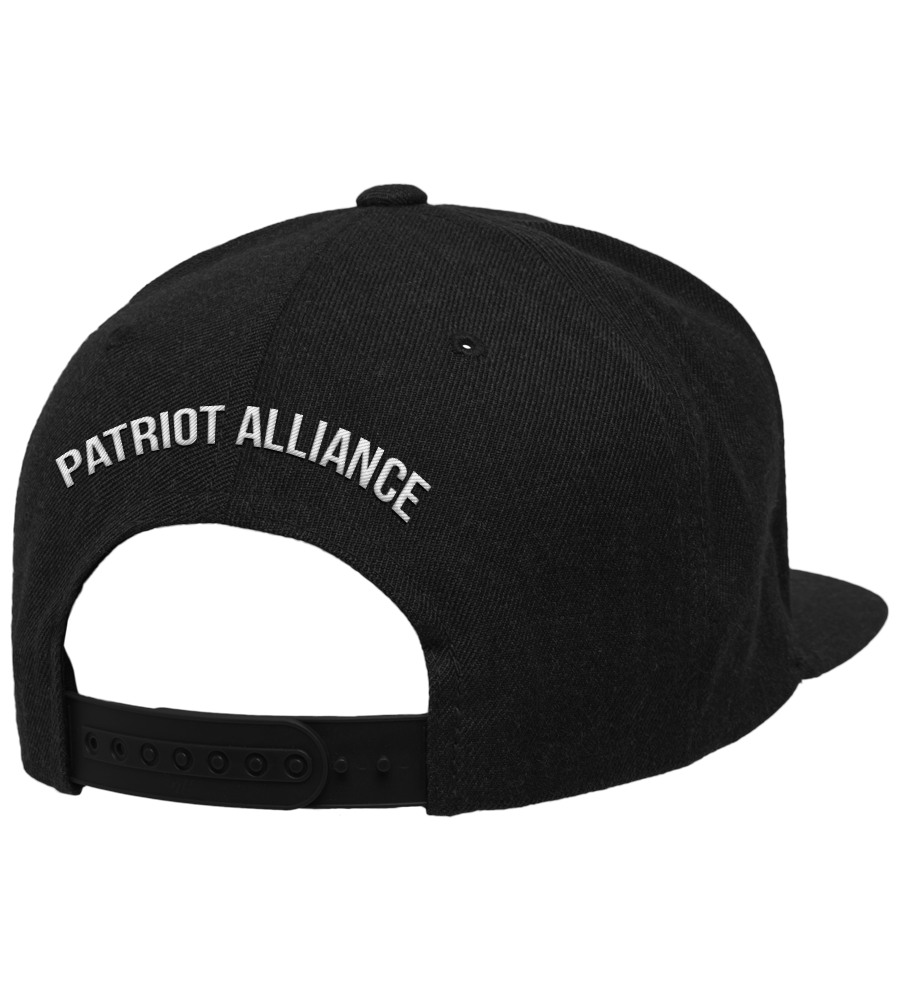 Califor2a Flat Bill Snapback Hat, Black