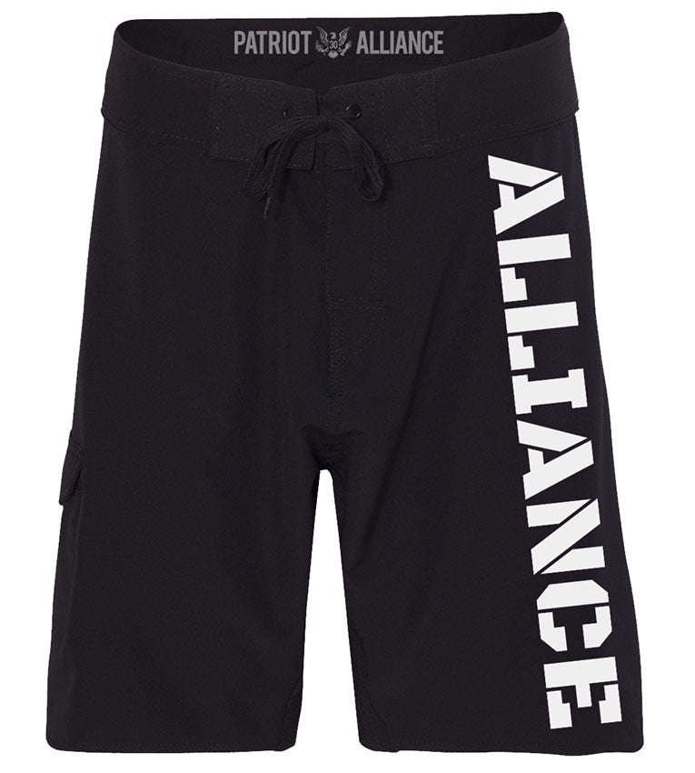 Alliance Board Shorts, Black