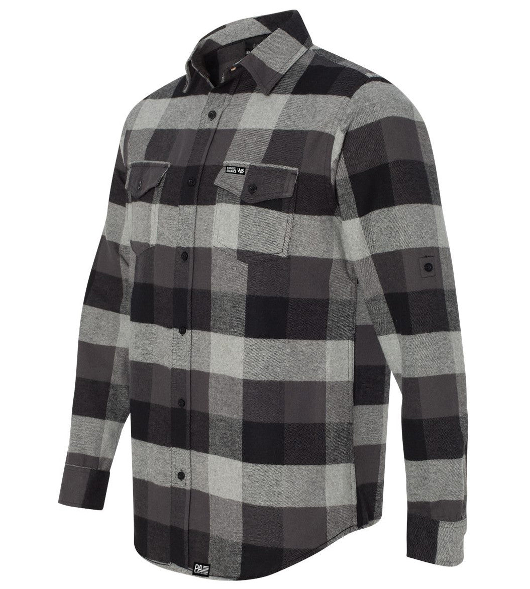 Great Seal Flannel, Black/Grey