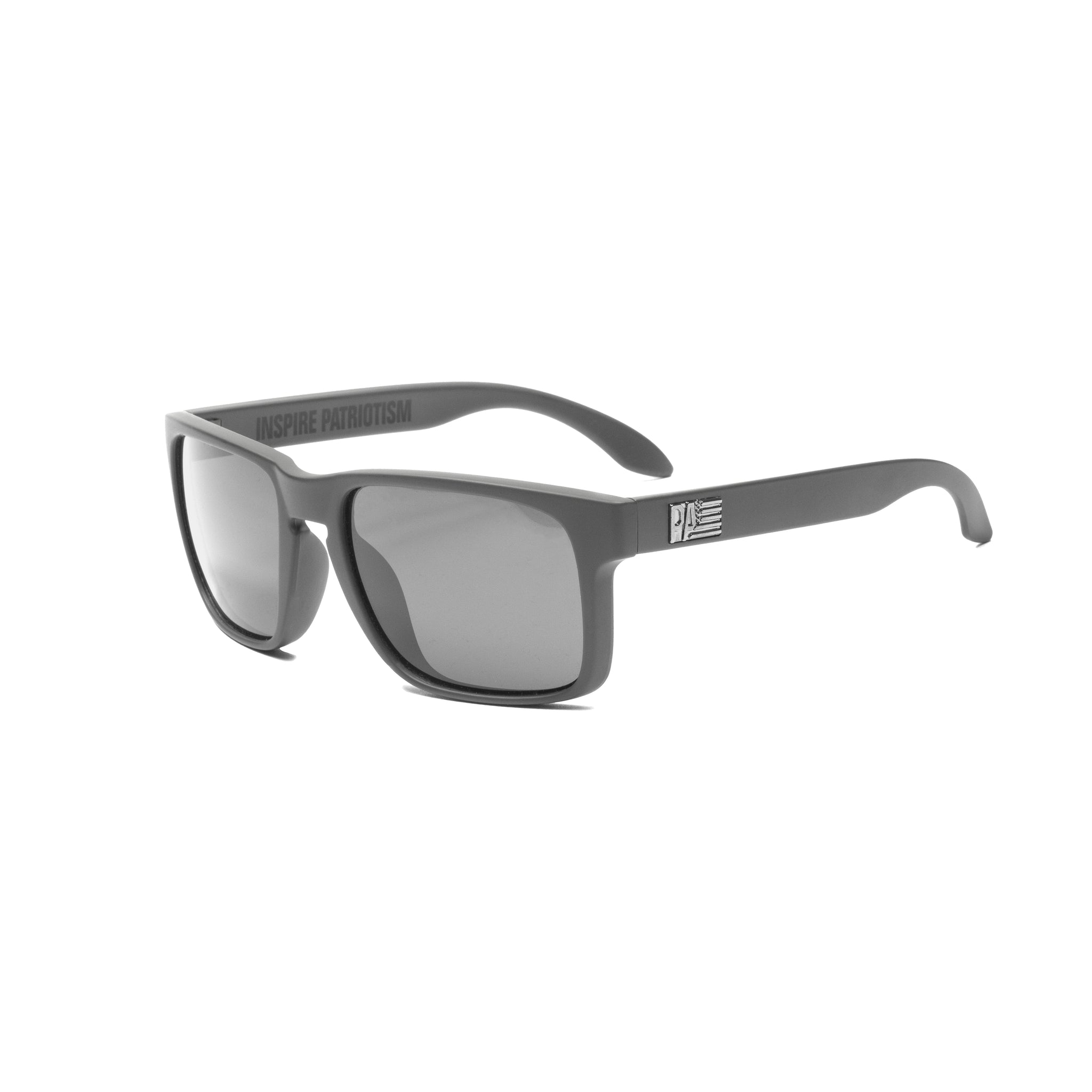 PA Logo Sunglasses, Matte Grey