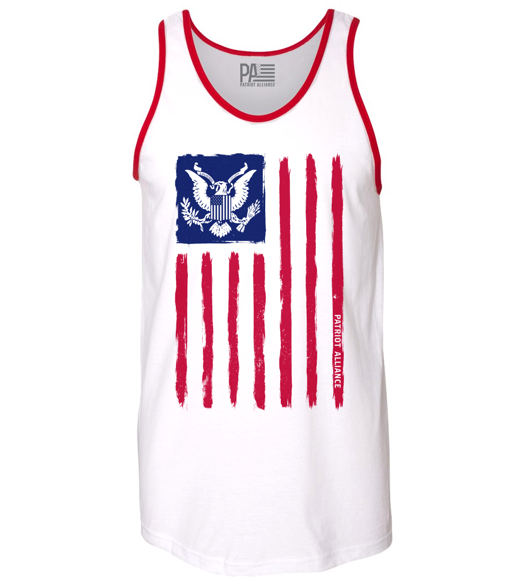 Flag & Eagle RWB Tank Top, White