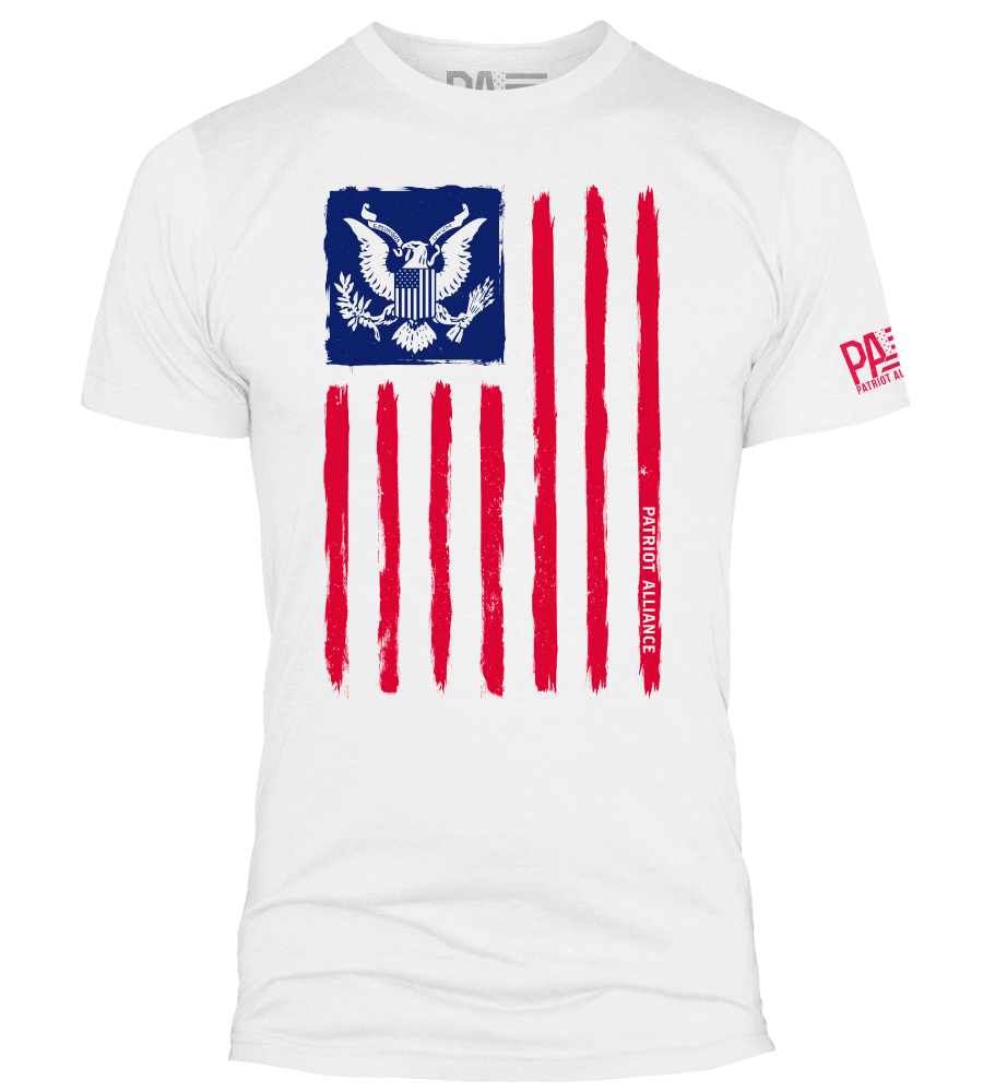 Flag & Eagle RWB, White